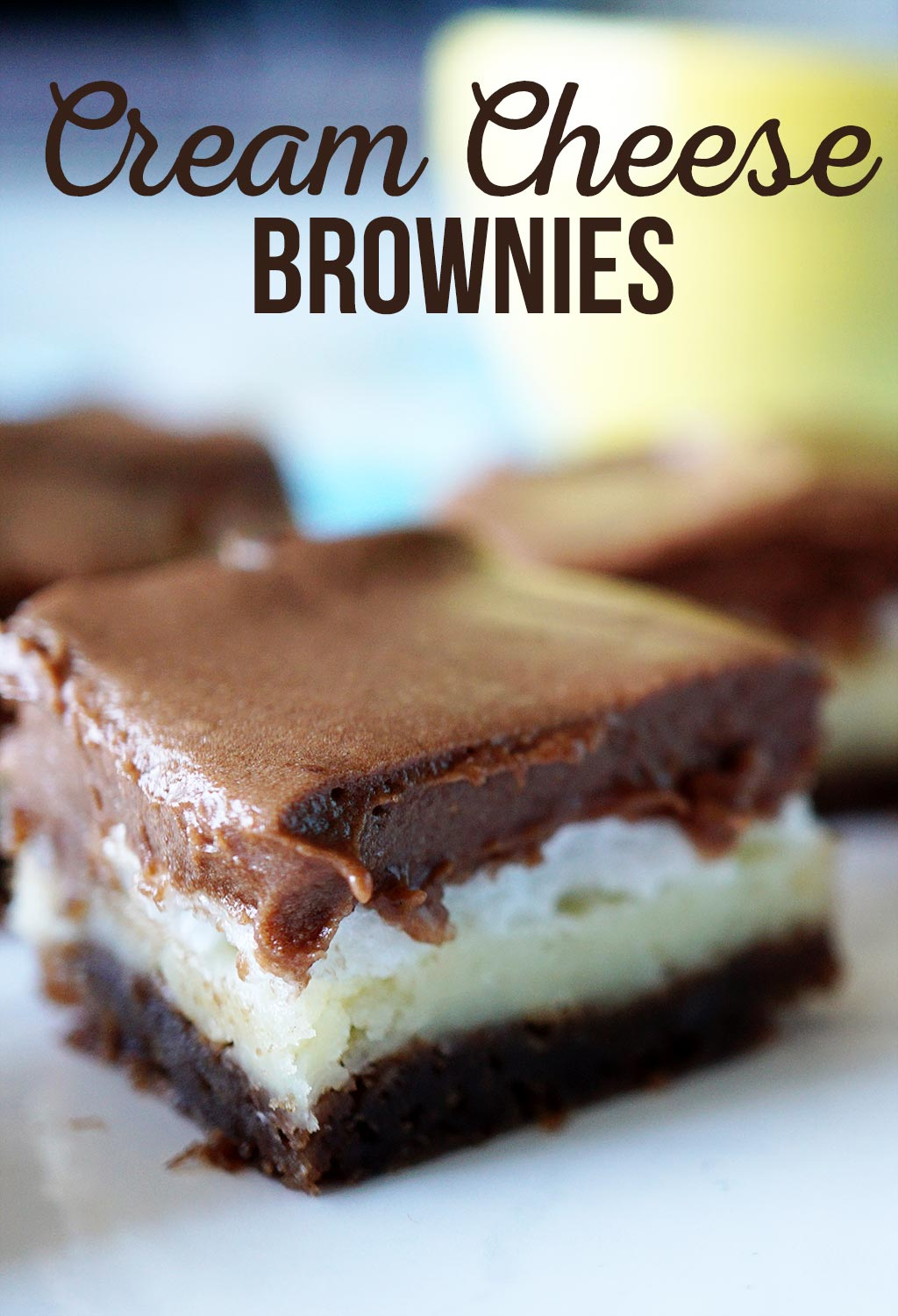 Cream Cheese Brownies take brownies to a whole new level! With 4 decadent layers of cream cheese, marshmallow and of course chocolate.