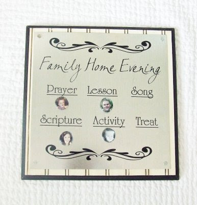 Super Saturday Craft Ideas   Magnetic FHE Board   Family Home Evening