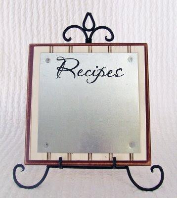Super Saturday Craft Ideas   Magnet Recipe Board