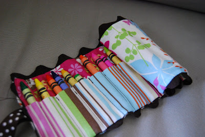 DIY Crayon Roll   Sewing Project   Quiet Bag
