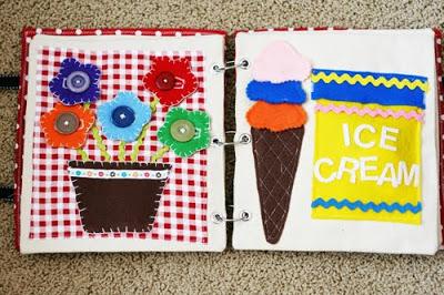 DIY Quiet Book | Ice Cream