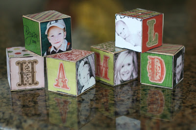 Homemade Block Ornaments | These simple DIY blocks make a fun Christmas ornament for grandparents or neighbors.
