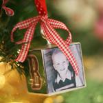 Homemade Block Ornaments