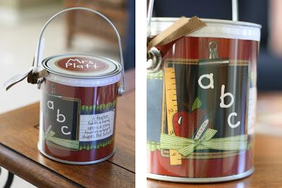 Mini Paint Can Inserts | Teacher Gift Idea