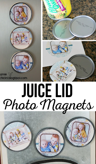 Juice Lid Photo Magnets