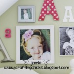 {Kid Room Decor-Monogram Photo Wall}