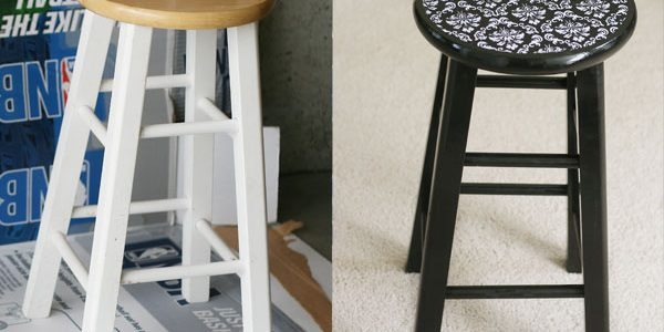 Mod Podge + Fabric = Beautiful Barstools