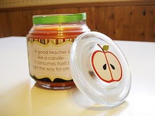 candle teacher gift