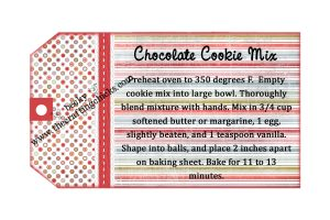 Chocolate Cookie mix tag for Visiting Teaching