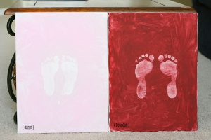 barefeet painted canvas project