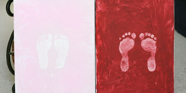Footprints on Painted Canvas