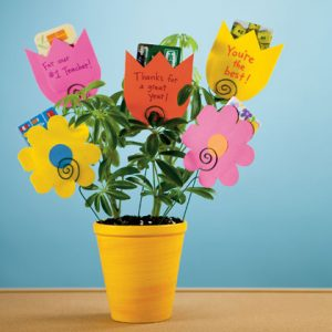 plant and flower gift cards teacher gift