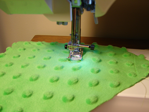 minky blanket sewing
