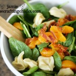 {Spinach Tortellini Salad For Summer}