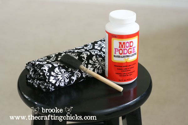 supplies-for-modpodge-fabric-barstool