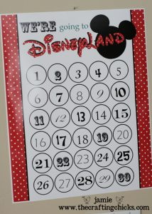 disneyland countdown crafting chicks 3