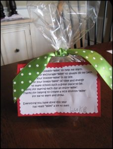 mint teacher treat bag