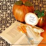 Vintage Paper Halloween Wreath