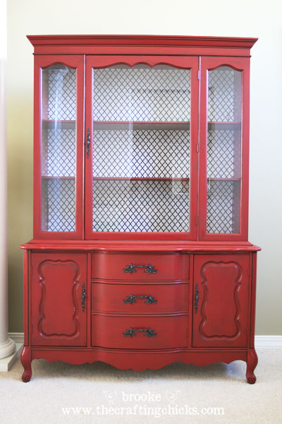 DIY Dining Room Hutch Makeover - The Crafting Chicks
