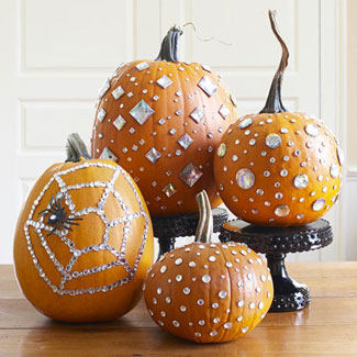 pumpkins-with-rhinestones good housekeeping