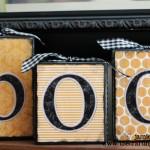 """{DIY- Halloween """"BOO"""" Blocks}"""
