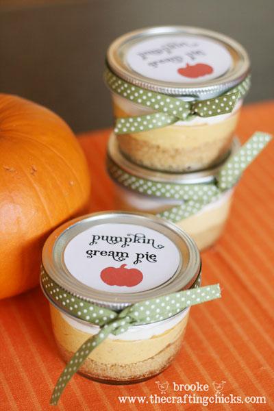 Mini Pots of Pumpkin Cream Pie