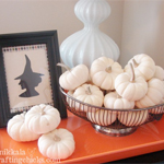 Halloween Decor:: Starring White Pumpkins