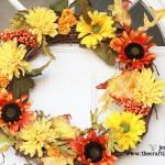{Pretty & Cheap Fall Wreath}