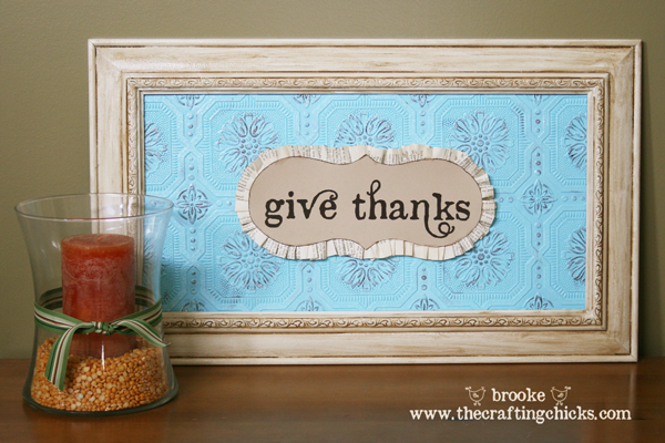"""""""Give Thanks"""" Framed Art"""