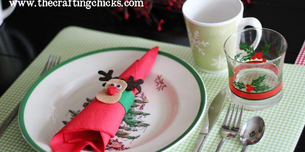 {Christmas Morning Breakfast + Felt Reindeer Napkin Rings}