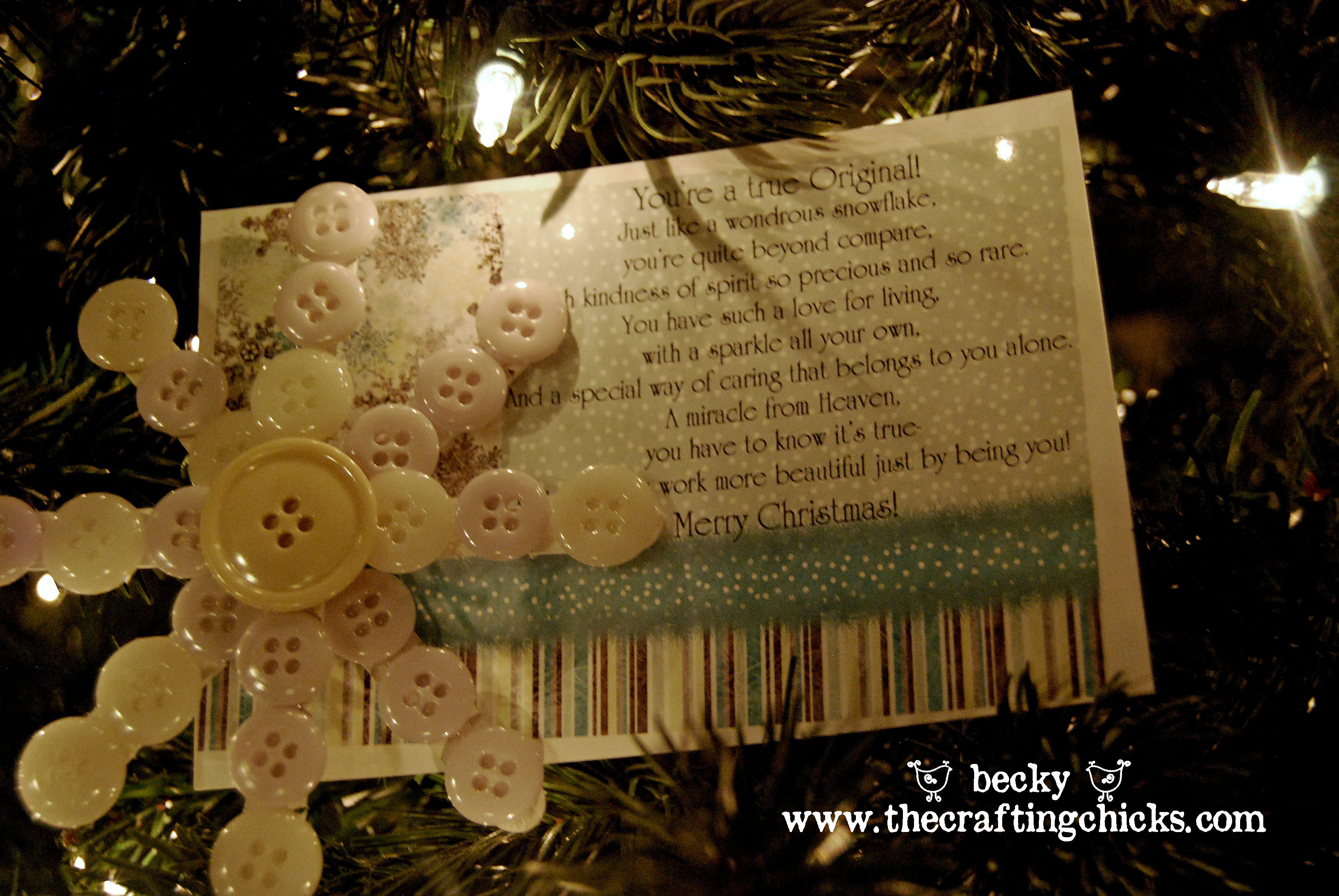 Last Minute Gift Idea {Snowflake Ornament and Gift Tag}