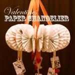 Vintage Paper Chandelier…{Valentines style}