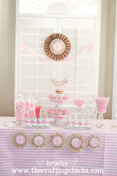 diy candy buffet red