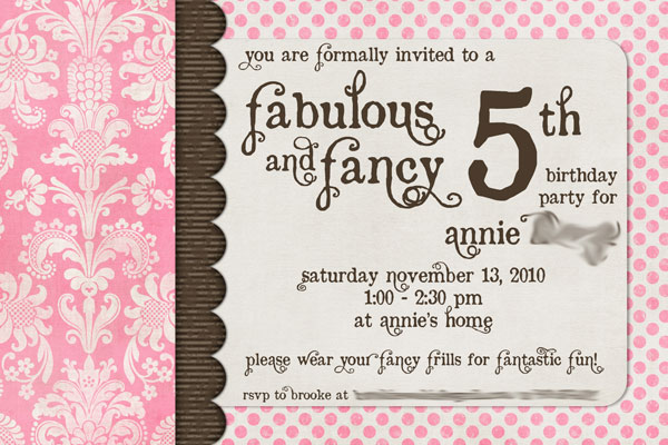 Pink First Birthday Invitations as perfect invitation example