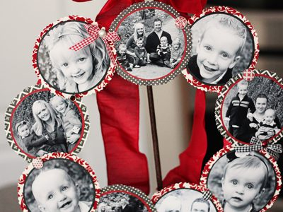 Family Photo Wreath-Valentine's Day Style