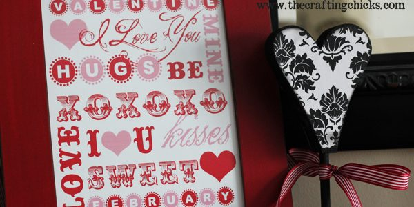 Valentine's Day Word Art and Notecards + Free Downloads!