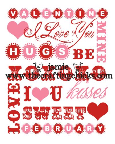 Save · Valentines Day Word Art