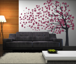 Cherry Blossom Blowing Tree vinyl decal_1298679044722