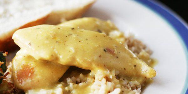 Lemon Herb Crockpot Chicken