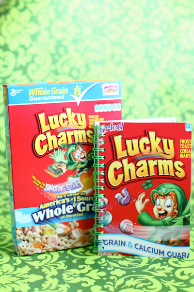 "DIY ""Lucky Charms"" Notebook"