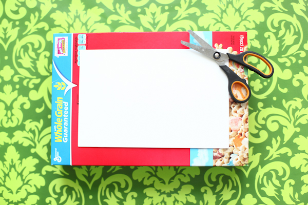 Make A Cool Notebook From a Cereal Box