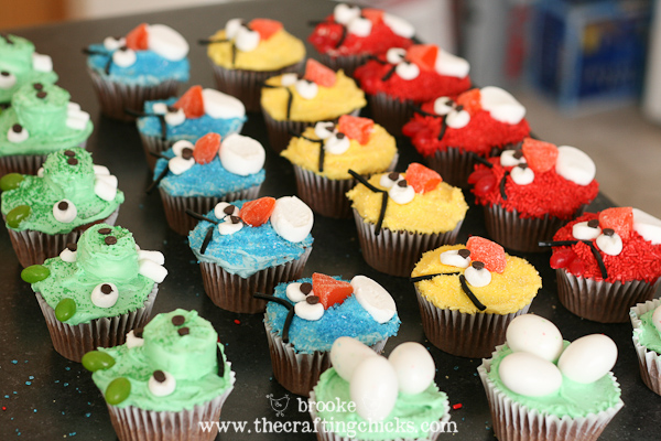 How to make Angry Bird Cupcakes
