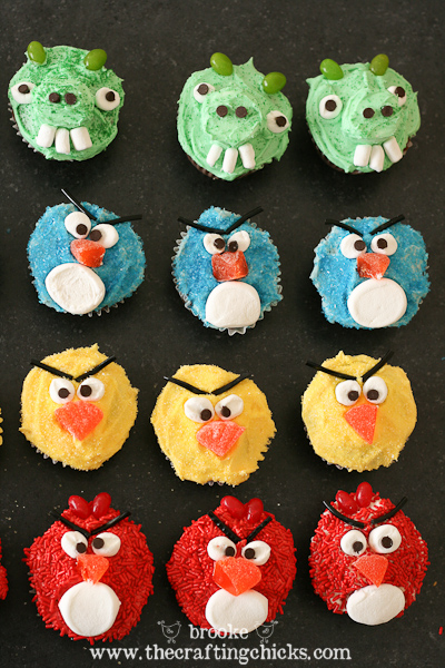 Angry Birds Cupcakes The Crafting Chicks