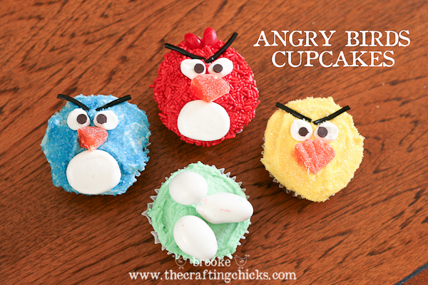 Angry Bird Movie Cupcakes