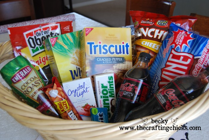 New daddy gift basket the crafting chicks new daddy basket treats negle Image collections