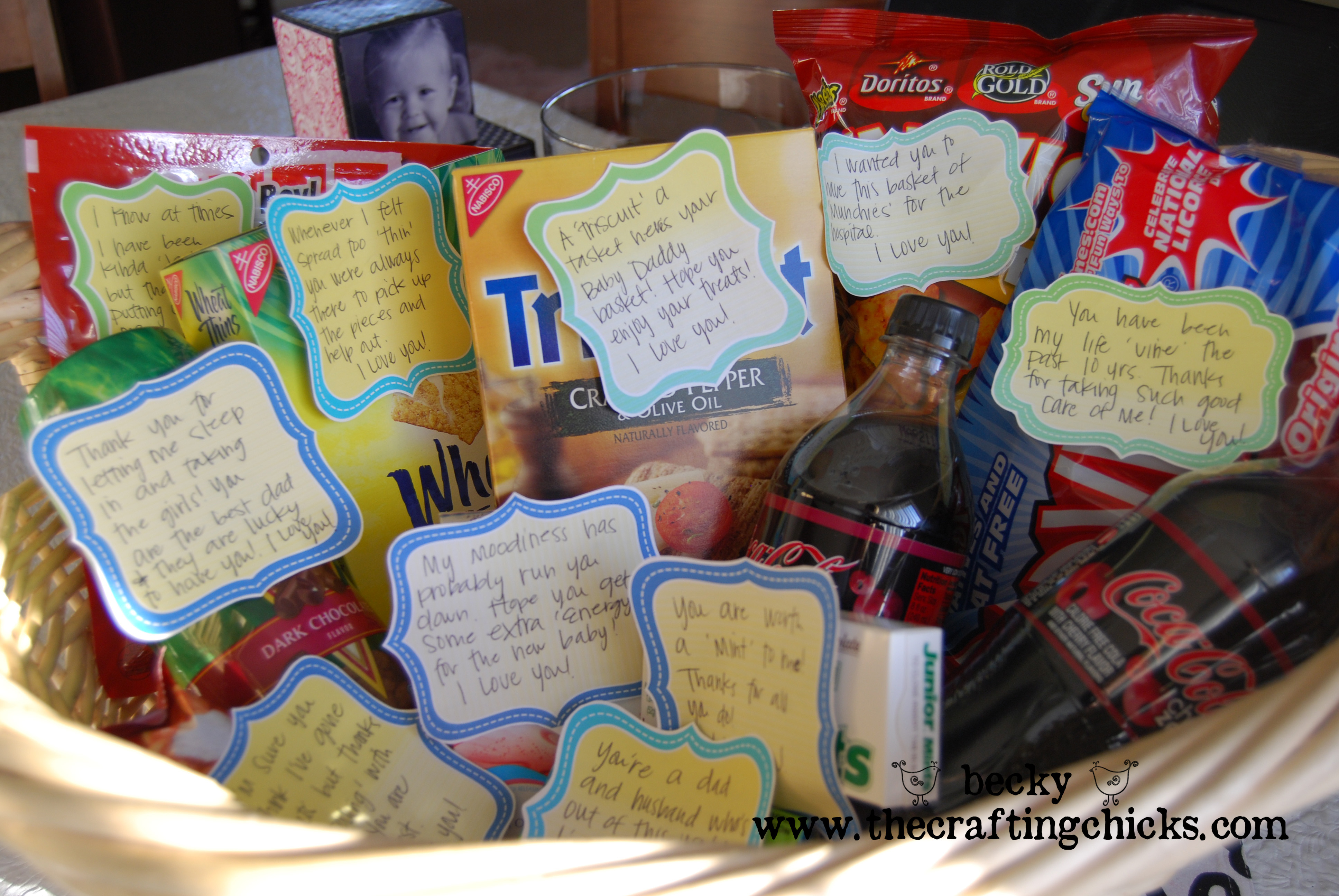 Baby Gift Basket For Dad : New daddy gift basket the crafting chicks