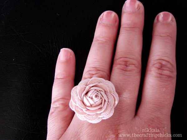 Кольцо своими руками из ткани