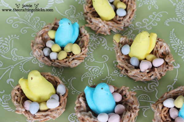 Easter Bird Nests with Peeps - A favorite treat!