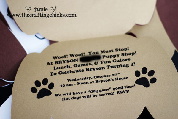 puppy shop party}  the crafting chicks, Party invitations