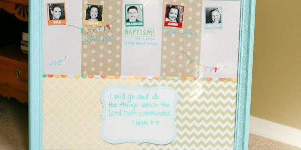 Personalized Family Message Board